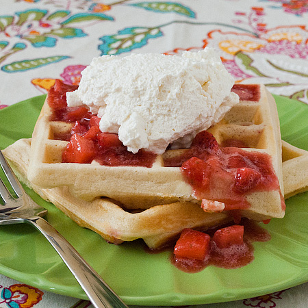 Change Your Way of Thinking: Strawberry Cream Cheese Waffles