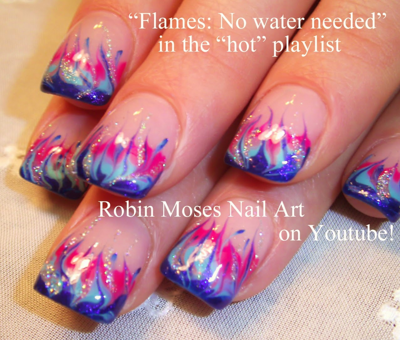 Robin Moses Nail Art February 2015: Robin Moses Nail Art: Practice Your Technique For No Water