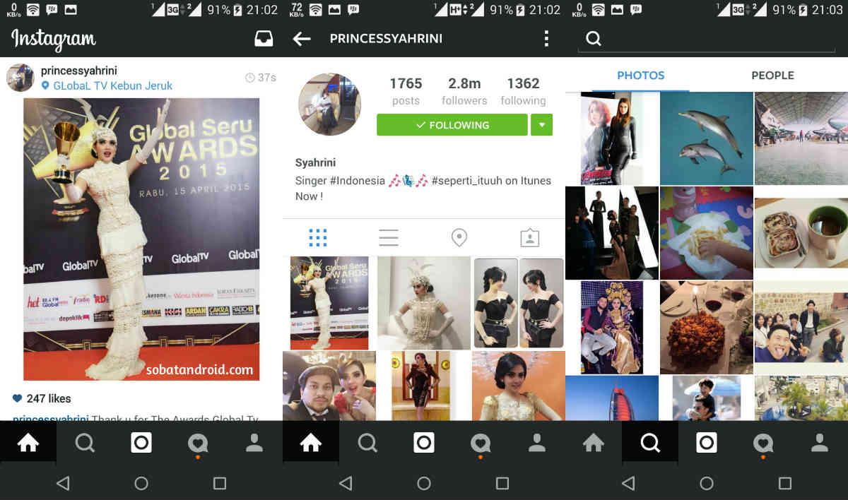 Cara Mengubah Tampilan Aplikasi Instagram Android Menjadi Hitam Pekat