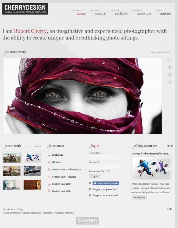 GK CherryDesign - Gavick Pro Joomla Templates