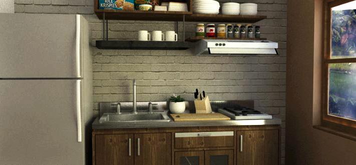 Desain kitchen mungil tapi nyentrik koloniars design studio for Kitchen set yang bagus