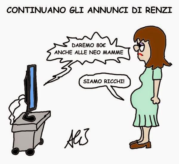 Renzi, mamme, 80 euro