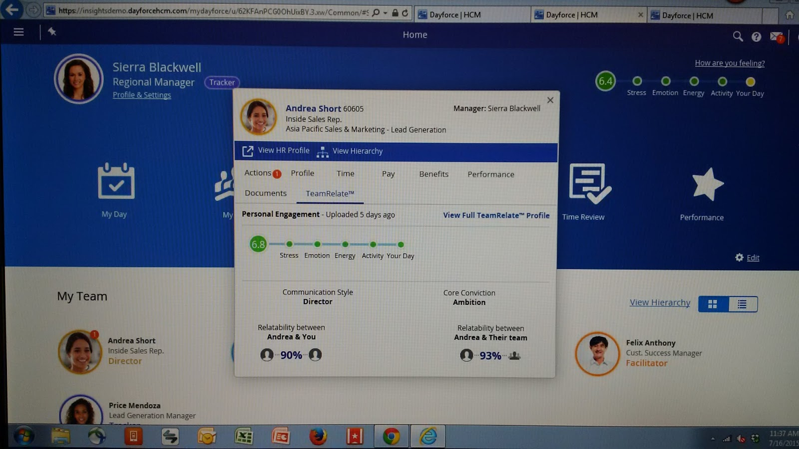 Login ceridian time professional - New Ceridian Dayforce Employee Profile Inside Of Mss