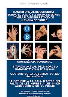 Inauguración del Master CELS en Barna (conferencias) 14 de oct.'11 UB_masterCS1112