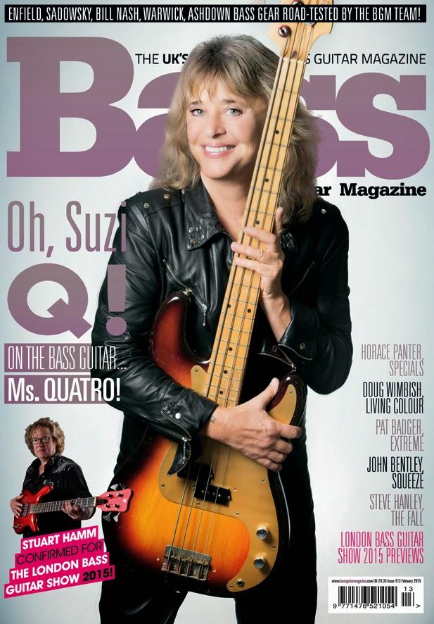 Suzi Quatro - Bass Guitar Magazine, UK, February 2015