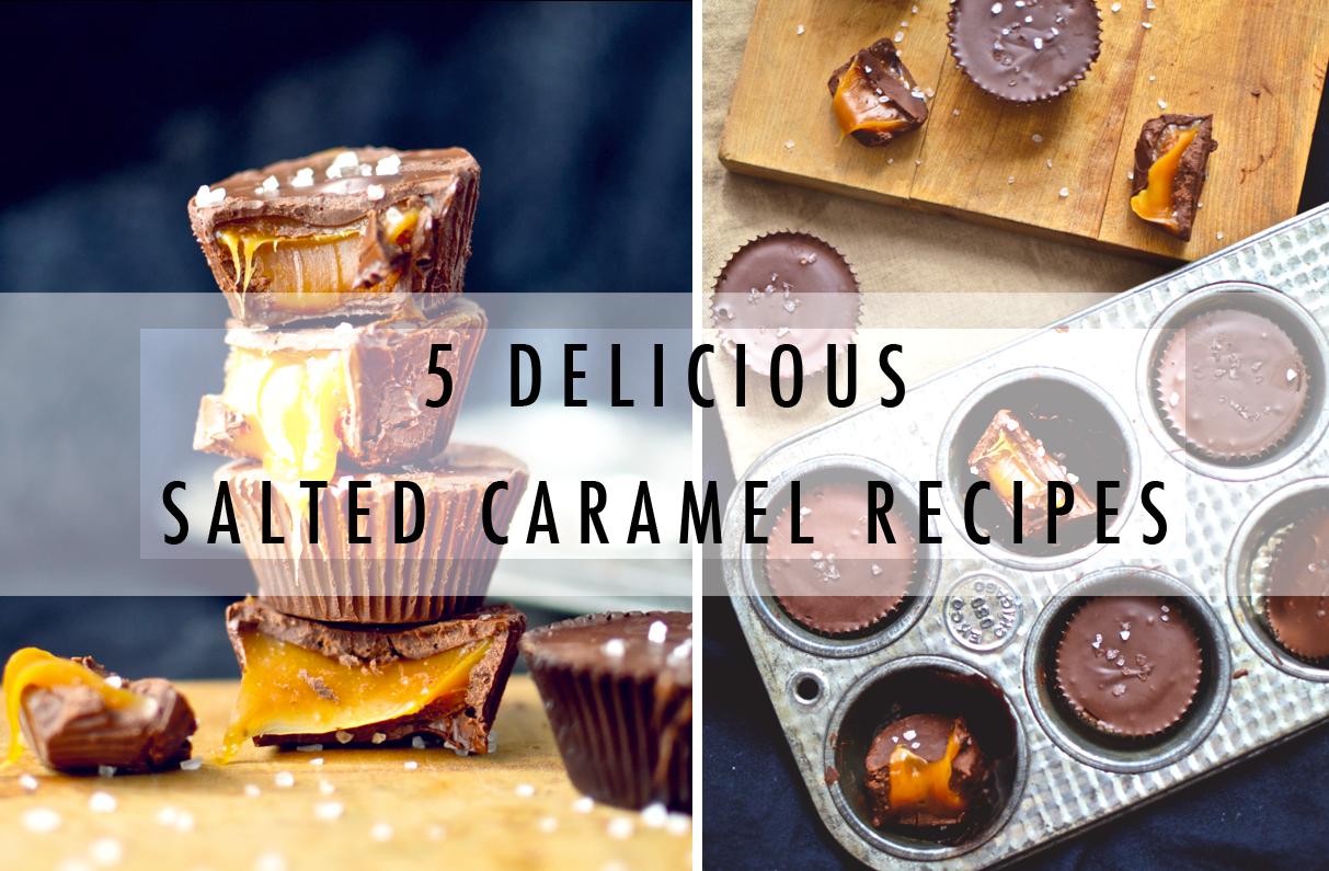 salted caramel recipes, caramel chocolate cups