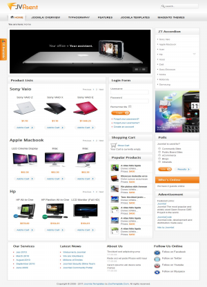 Share template JV Asent - Joomla 1.5