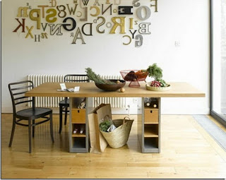 wall lettering in kitchen wall decor
