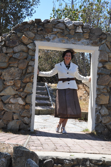 1930s dress Catalina Island