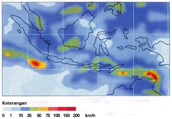 Peta Persebaran Curah Hujan di Indonesia