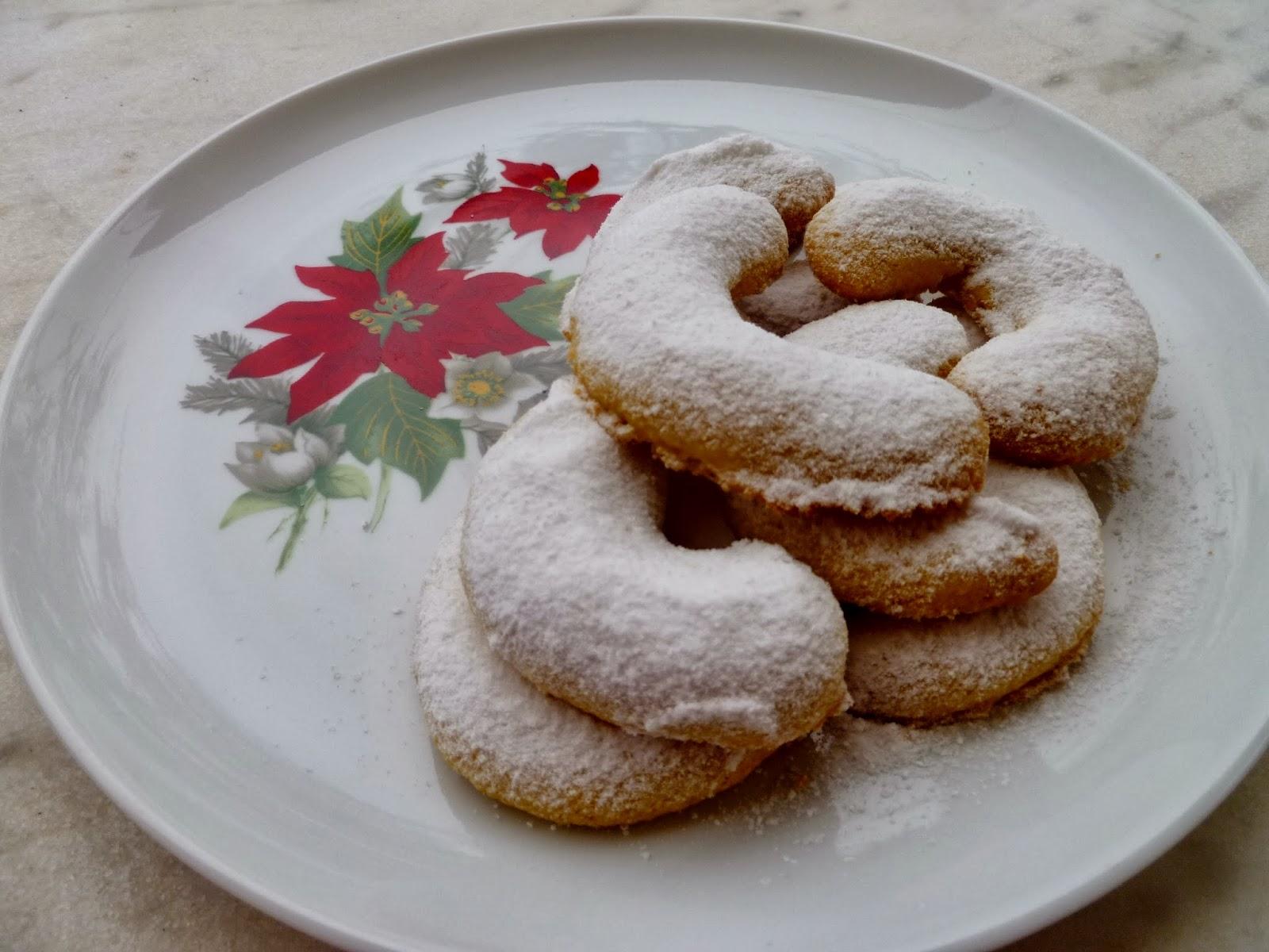 Μπισκότα Χριστουγέννων vanillekipferl