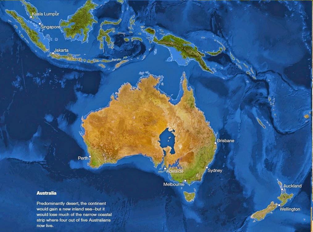 Se o gelo do mundo derreter - Oceania