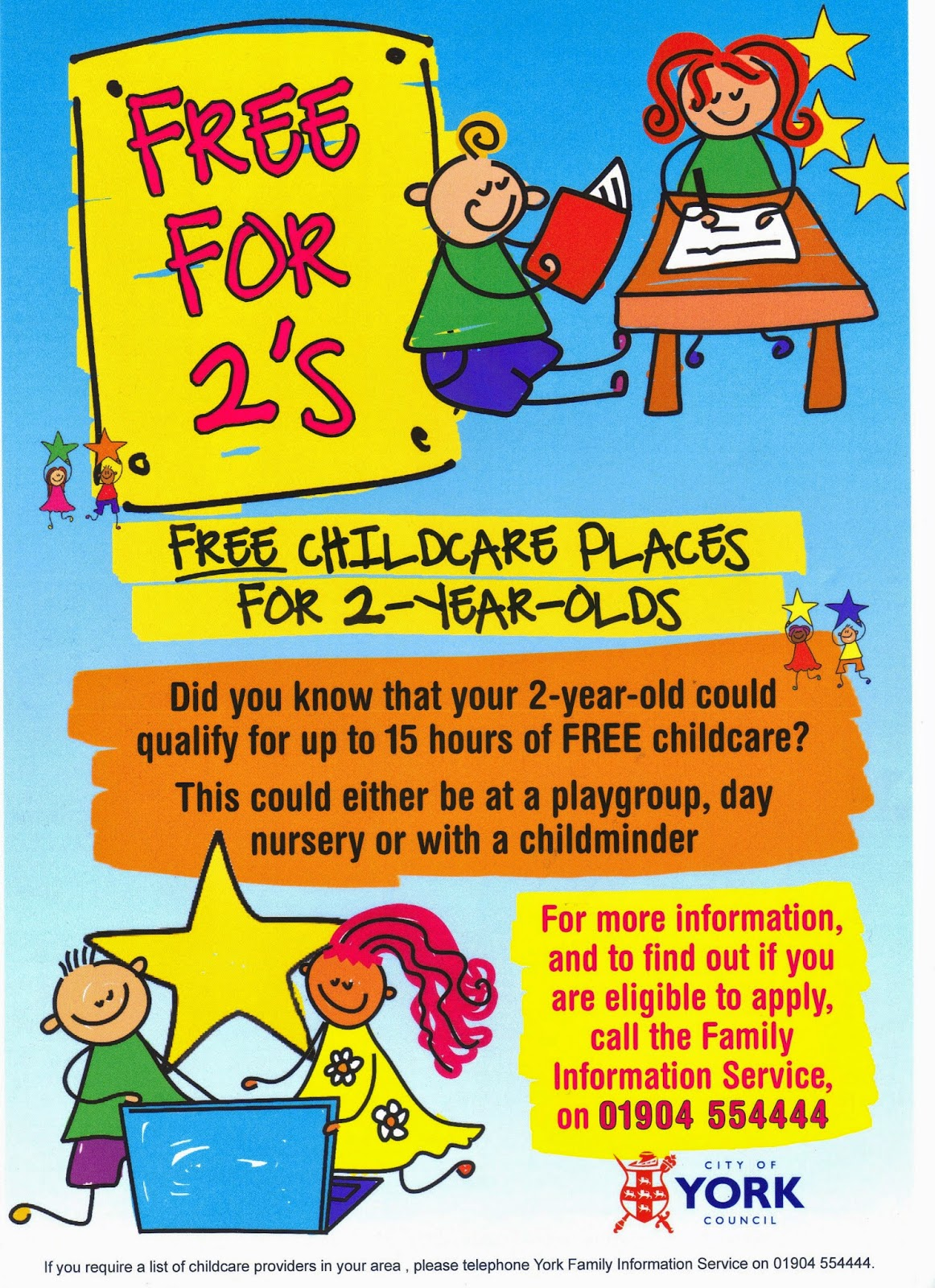 free childcare places for 0 2 year olds