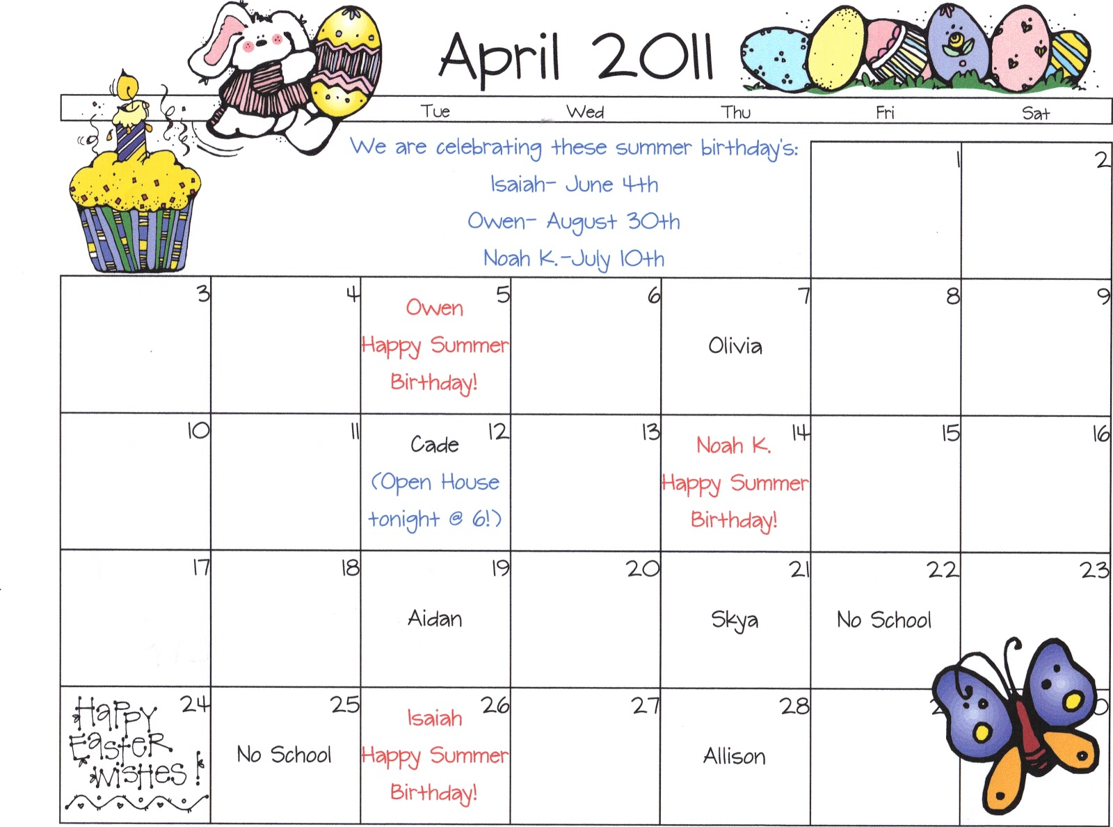 April Calendar S Kindergarten : Wee world preschool snack calendars