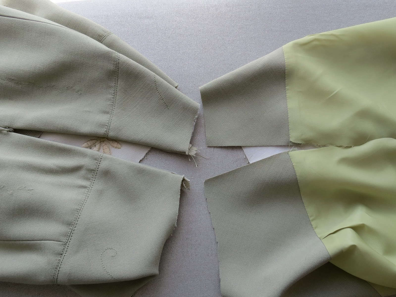 Обработка юбки обтачкой с подкладкой