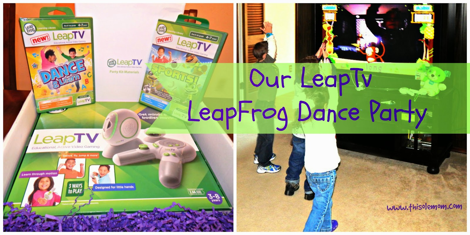 Mommy Parties, LeapTV, LeapFrog, Dance Party, Educational, Gaming system, Video Games