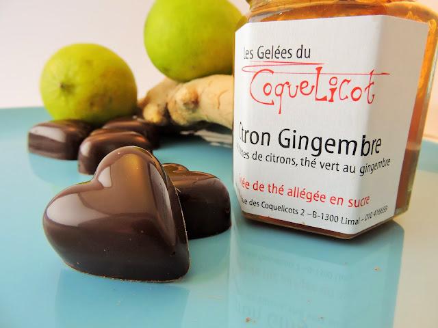 recette chocolats de saint-valentin à la ganache citron vert gingembre