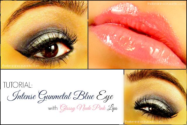 Intense Gunmetal Blue Eye Makeup Tutorial