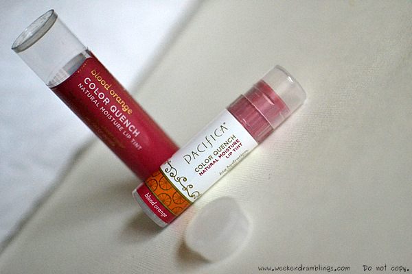 pacifica color quench natural lip tint blood orange reviews ingredients swatches balm treatment makeup blog