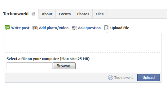how to delete uploaded file on facebook group
