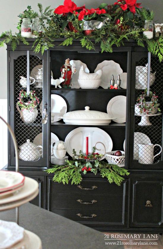 Decorating Ideas > 21 Rosemary Lane Christmas Hutch In The Kitchen ~ 012415_Christmas Decorating Ideas Hutch