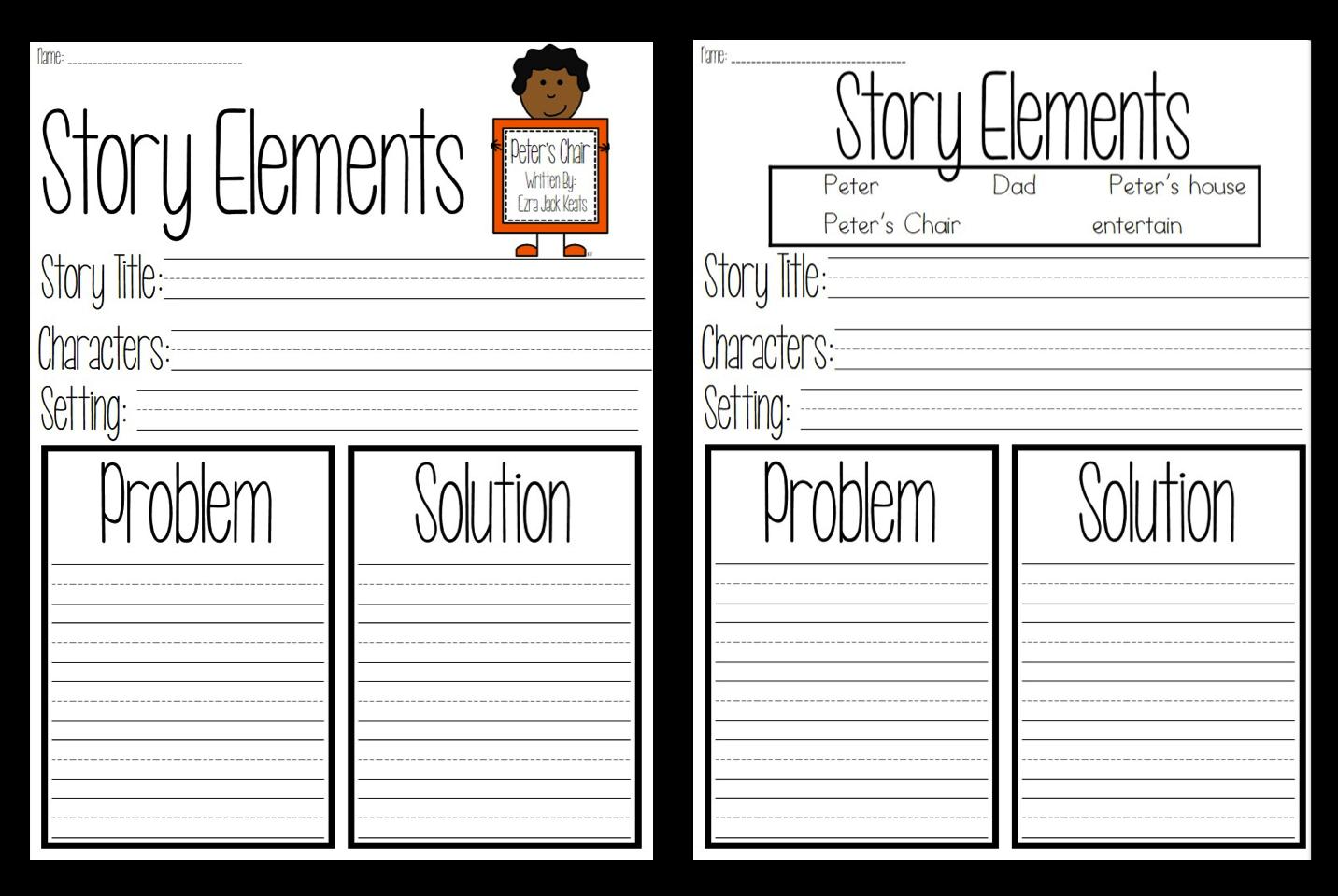 Worksheets Story Elements Worksheet story elements worksheets pictures to pin on pinterest clanek element worksheet davezan 1432x959
