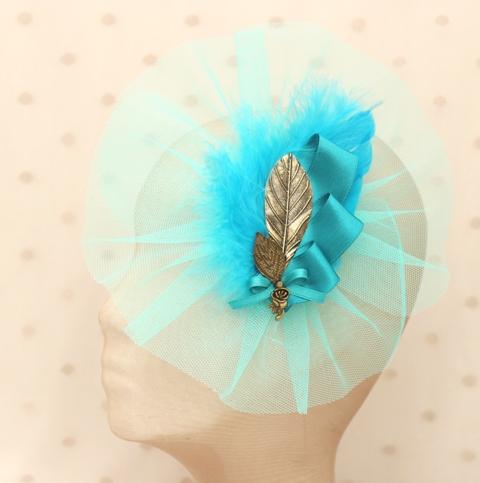 Colección Picnic - Tocado hoja azul