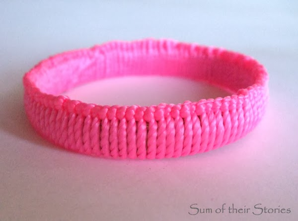 wrapped cord bangle