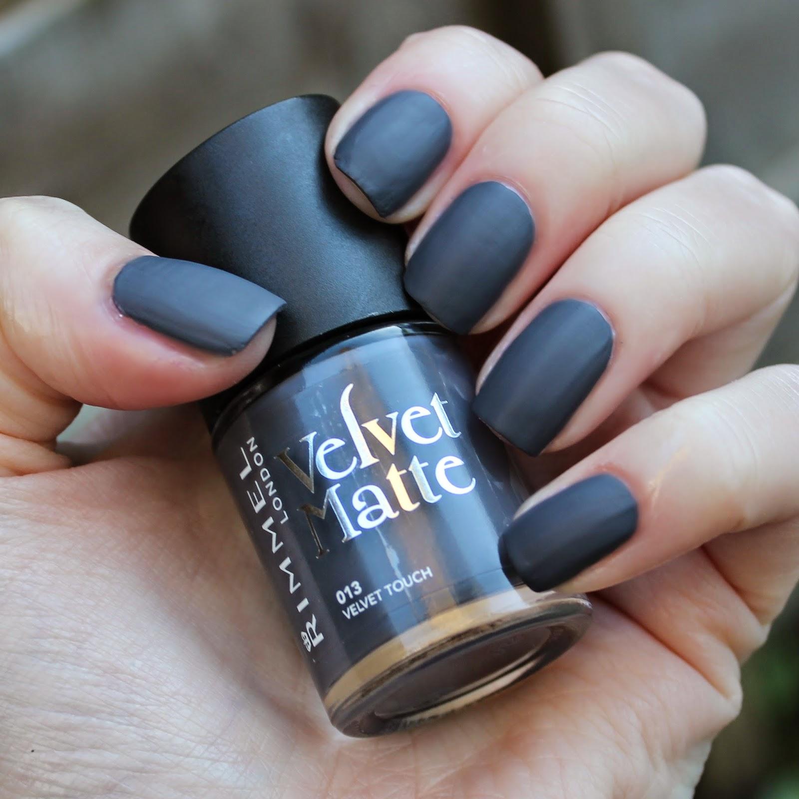 Velvet Nail Polish: Dahlia Nails: Rimmel Matte Velvet Collection