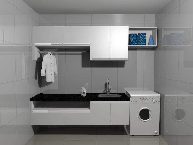 Favoritos Construindo Minha Casa Clean: Projeto da Minha Lavanderia Sob  JQ15