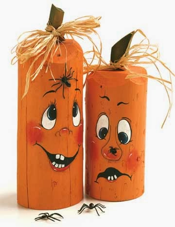 Halloween countdown 31 days 4 creative pumpkin crafts misi if you want this adorable pumpkin craft to last more than one season consider using faux pumpkin theyre sturdy yet easy to carve and look just like the solutioingenieria Choice Image