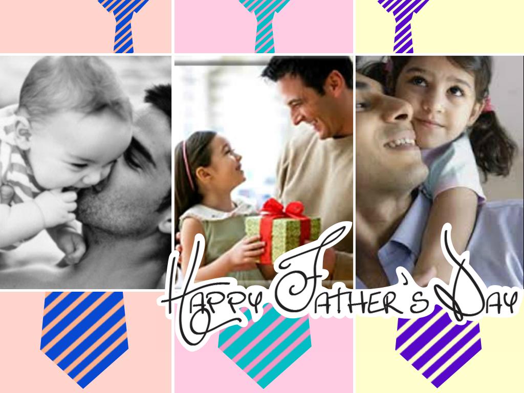 Montagem de fotos Dia dos Pais
