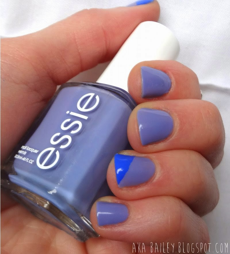 Essie Lapiz of Luxury, Sally Hansen Pacific Blue nail polish
