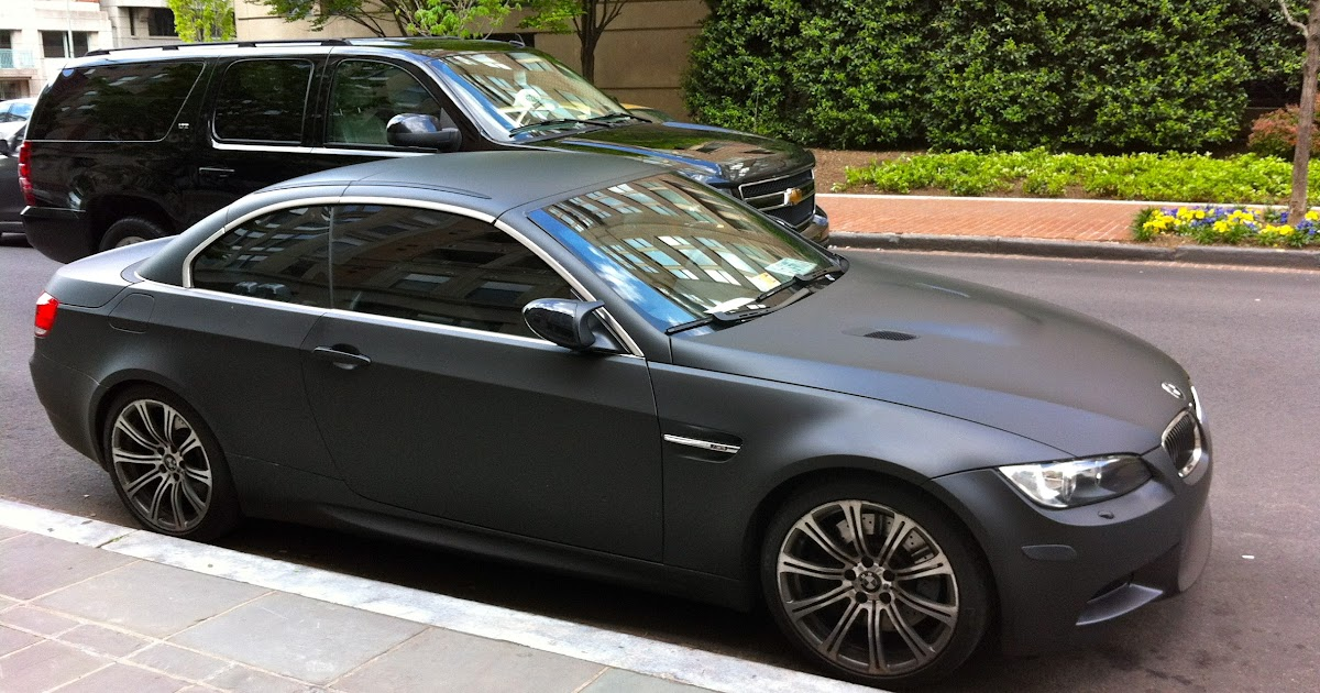 Cars On Campus Matte Black Bmw M3 Gwu