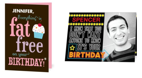 Free Custom Birthday Cards gangcraftnet – Custom Printed Birthday Cards