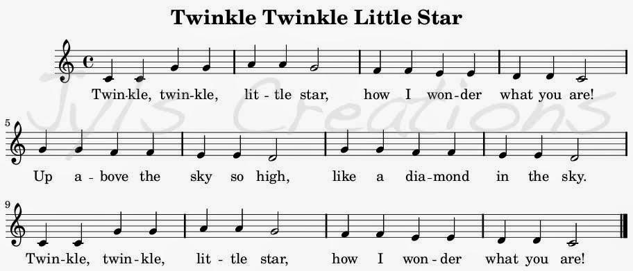 twinkle twinkle little star key g major