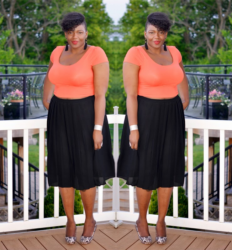 Plus size style inspiration: Crop top