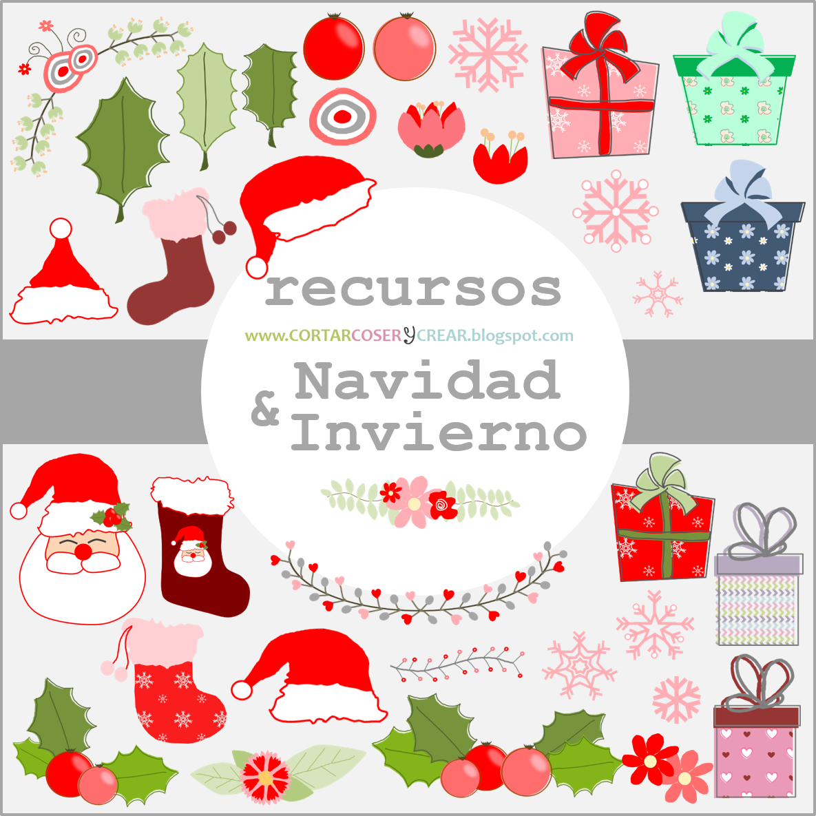 Recursos digitales gratuitos navideños scrapbooking freebies