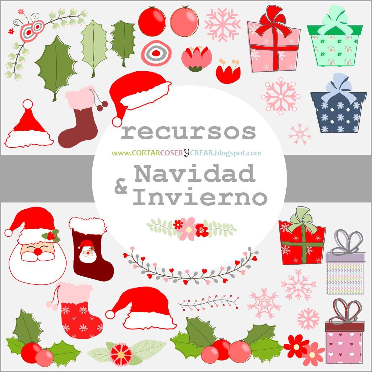 Recursos digitales gratuitos navideños scrapbooking freebies