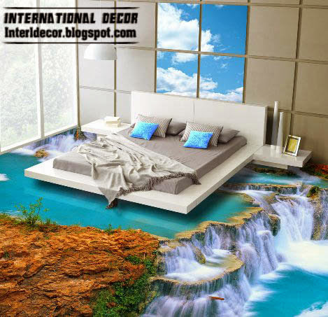 3d floor, 3d floor murals, bedroom flooring