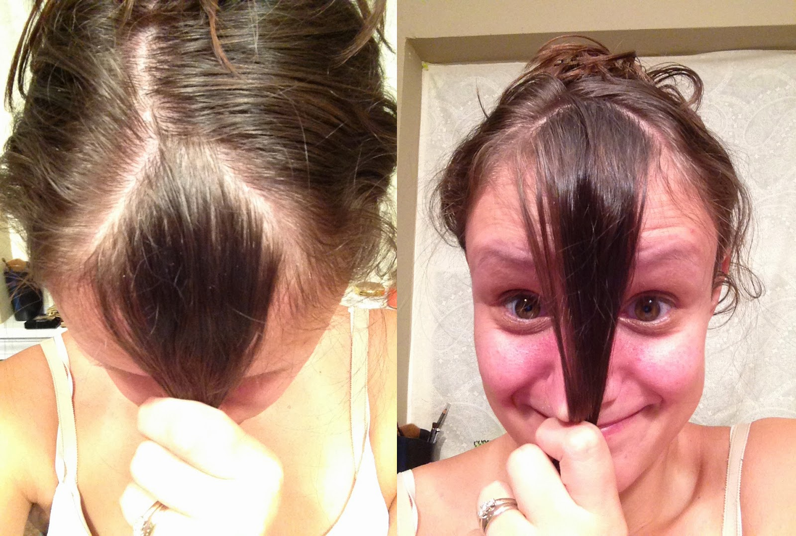 how to cut your own hair into a side fringe