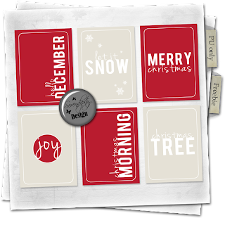 Freebie: December Holiday cards
