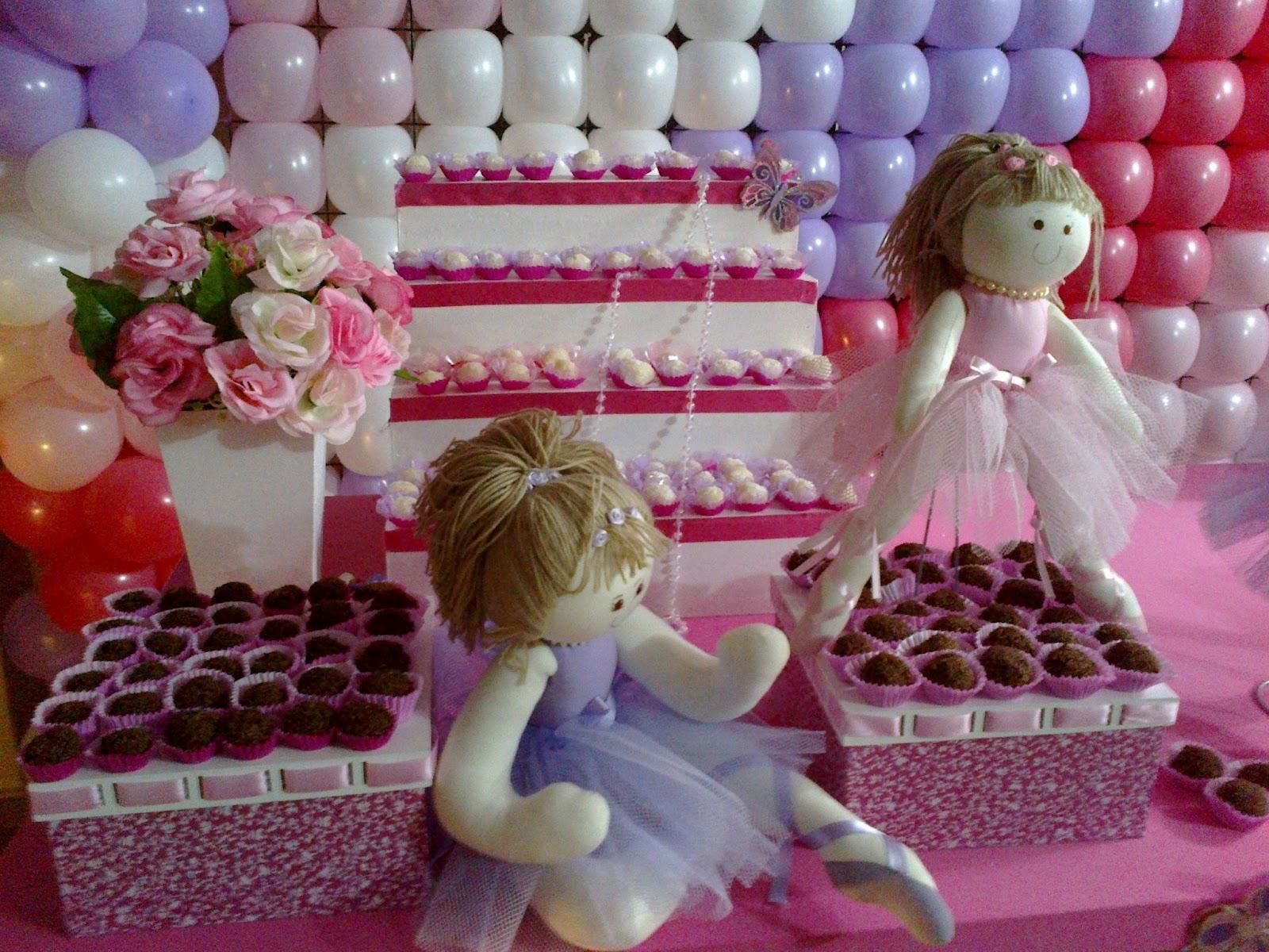 Kid e Lú Festas Bailarina Rosa e Lilas