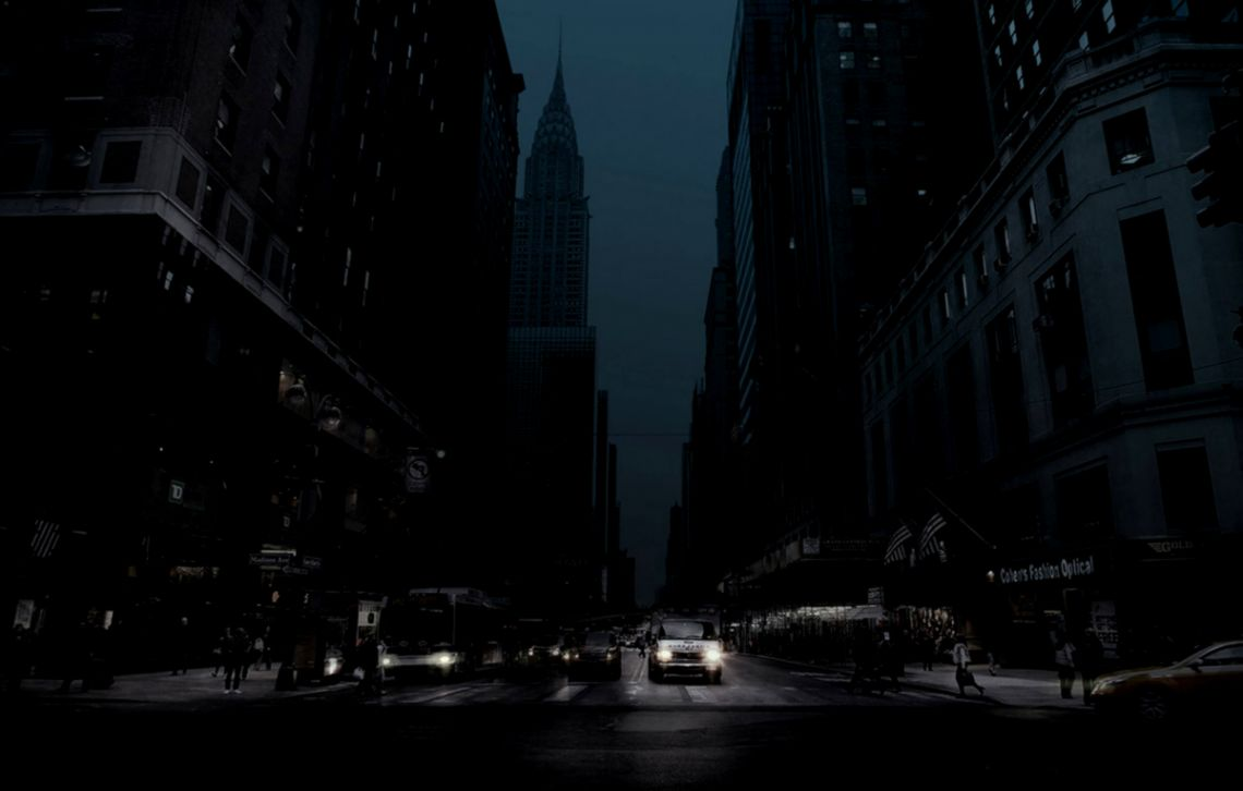 Dark Street At Night