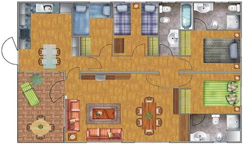 100m2 House Plan With 4 Bedrooms Home Plans Design