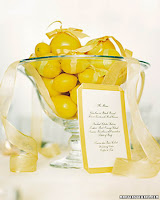 Lemon Wedding Centerpiece