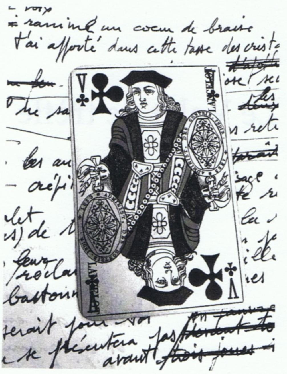 Frontispice Le Valet de Trèfle, Claude-Lucien Cauët, poème, éditions aPa, 2019