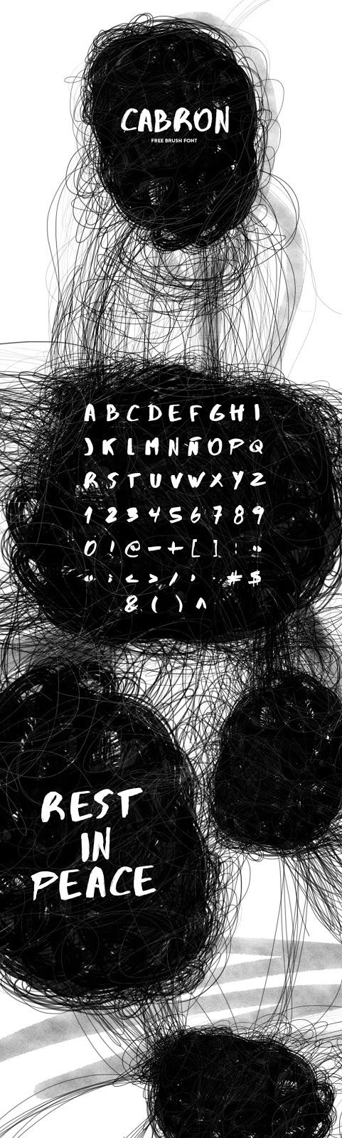 Carbon Free Brush Font