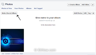 creating shared albums easily. Step-by-step guide.