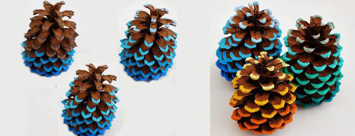 ombre pinecone